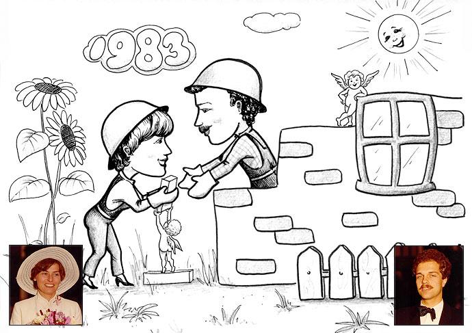 Hausbau karikaturen  Hausbau - Larysa Golik